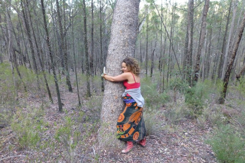 Every tree in the Pilliga is sacred - Iris Ray Nunn at the Pilliga Forest protest camp in October last year