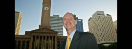 Campbell Newman after his 2004 election as Lord Mayor. Photo: Robert Rough, Brisbane Times