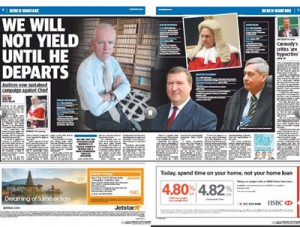 """The Courier Mail claimed """"bench warfare"""" was being waged by Qld's top Judges."""