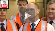 9 News Brisbane: Campbell Newman in high-vis in Bundaberg says rising power prices will be fixed by asset sales.