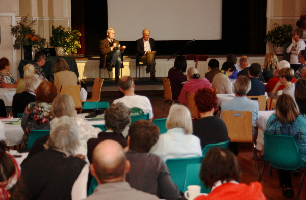 Simon Longstaff and Tony Windsor answer questions at #IndiTalks. Photo: Wayne Jansson