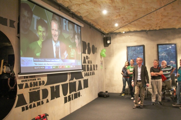 Greg Barber and Christine Milne announce historic win in seat of Melbourne by Ellen Sandell