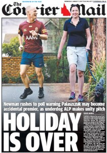 07/01/15 The Courier Mail  - Holiday Is Over