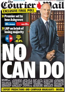31/01/15 The Courier Mail - Premier to lose Ashgrove - No Can Do