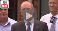 ABC News Qld: Lawyer Chris Hannay lodges $1.2m defamation action against Newman and Bleijie.