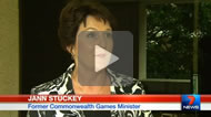 "7 News Brisbane: ""I have a grown-up family"": Jann Stuckey takes swipe at Kate Jones over Commonwealth Games."