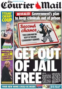 07/03/15 The Courier Mail - Get Out Of Jail Free.