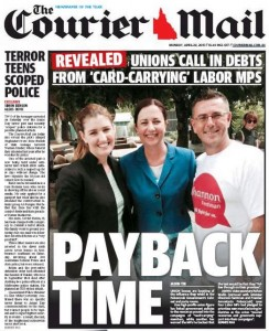 The Courier Mail - Payback Time - April 22, 2015.