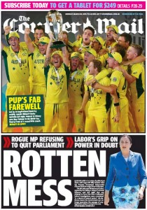 The Courier Mail - Rotten Mess - March 30, 2015.