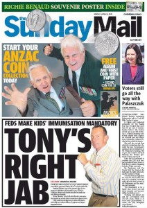 The Sunday Mail: Voters Still Go All The Way With Palaszczuk - 12 April 2015.