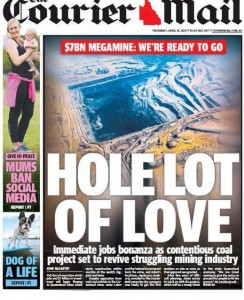 The Courier Mail - Hole Lot of Love - April 16 2015.