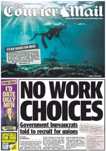 The Courier Mail - May 18 , 2015, - No Work Choices.