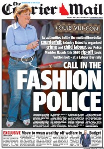 The Courier Mail - Call In The Fashion Police May 5 2015.