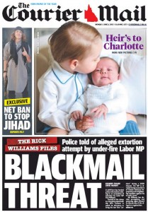 The Courier Mail - Blackmail Threat - June 8, 2015.
