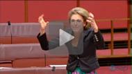 "Senator Michaelia Cash's ""chalice of blood"" speech attacking the Labor sisterhood in 2013."