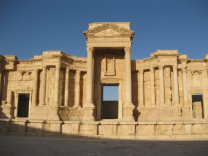 The amphitheatre at Palmyra. IS militants recently conducted a mass execution there