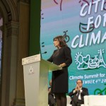 Paris Mayor Anne Hidalgo launching Cities climate summit, a side event to COP21. Photo: ©Mairie de Paris