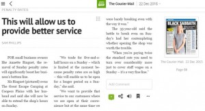 Annette Ringuet in The Courier Mail - This will allow us to provide better service.