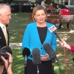 Health Minister Sussan Ley and Prime Minister Turnbull announcing NHMRC grants