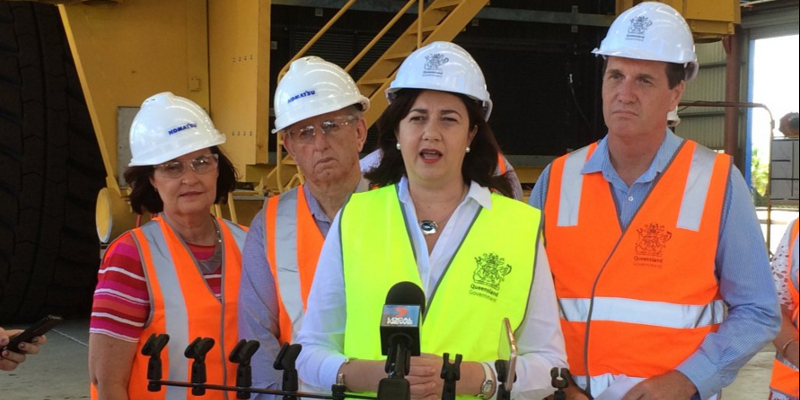Queensland Labor Premier Palaszczuk announced approval Adani Carmichael coal mine leases