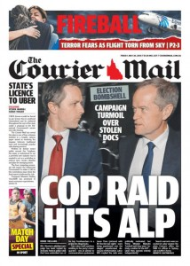 The Courier Mail - Cop Raid Hits ALP, May 20, 2016.