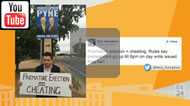 Premature erection: Christopher Pyne has broken Sth Australian LGA guidelines on election signs.