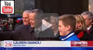9 News: Malcolm Turnbull & Bill Shorten take part in the Long Walk.