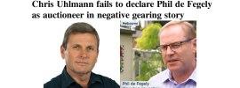 Chris Uhlmann fails to declare Phil de Fegely as auctioneer