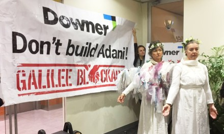 Protest occupies Downer EDI office: Don't get into bed with #Adani reports @takvera