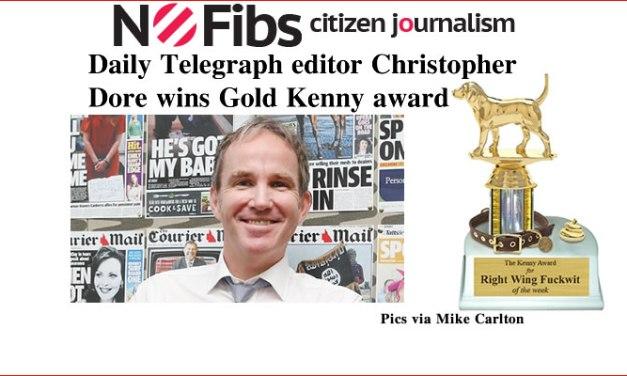 Daily Telegraph editor Christopher Dore wins #GoldKenny award – @Qldaah #auspol #qldpol