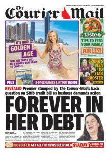 October 31, 2017 The Courier Mail - Forever In Her Debt