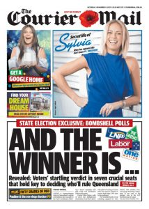 November 11, 2017 The Courier Mail - And The Winner Is