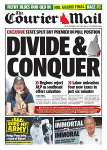 November 24, 2017 The Courier Mail - Divide & Conquer