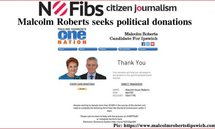 Malcolm Roberts seeks political donations – #qldvotes #qldpol @Qldaah