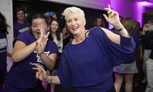 Kerryn Phelps election night party #WentworthVote