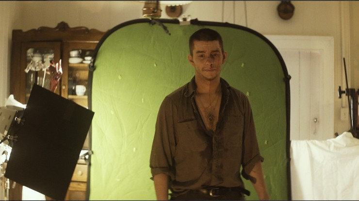 Director Nicholas Ashe Bateman on set of The Wanting Mare
