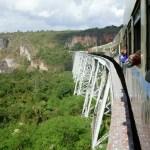 The strain of taking the train in Burma/Myanmar…