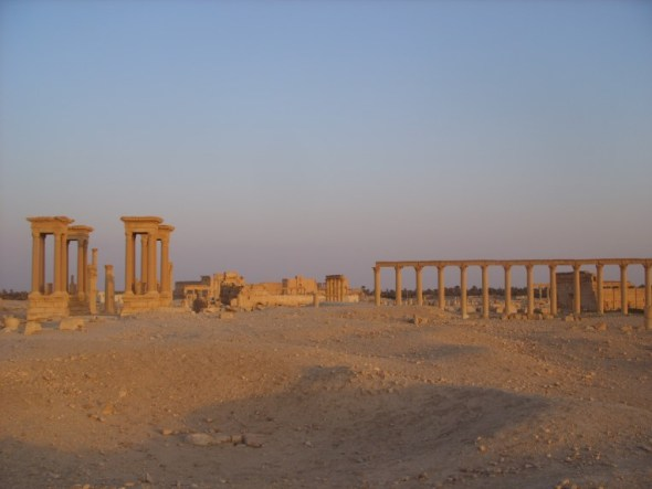 Palmyra at sunset