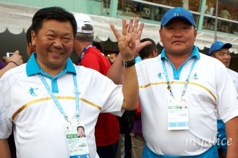 Some of the country officials even joined in the 'celebrity' status of being photographed!