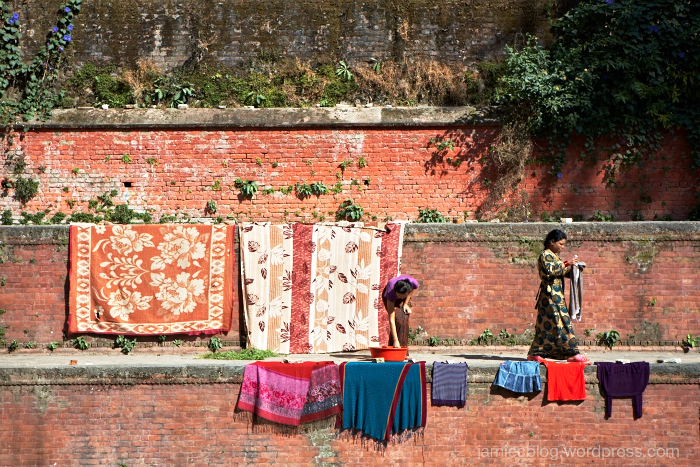Kathmandu, Washing, No Foreign Lands, Jamie Chan, Travel Blogger