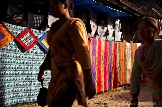 People, Nepal, Walking, scarves