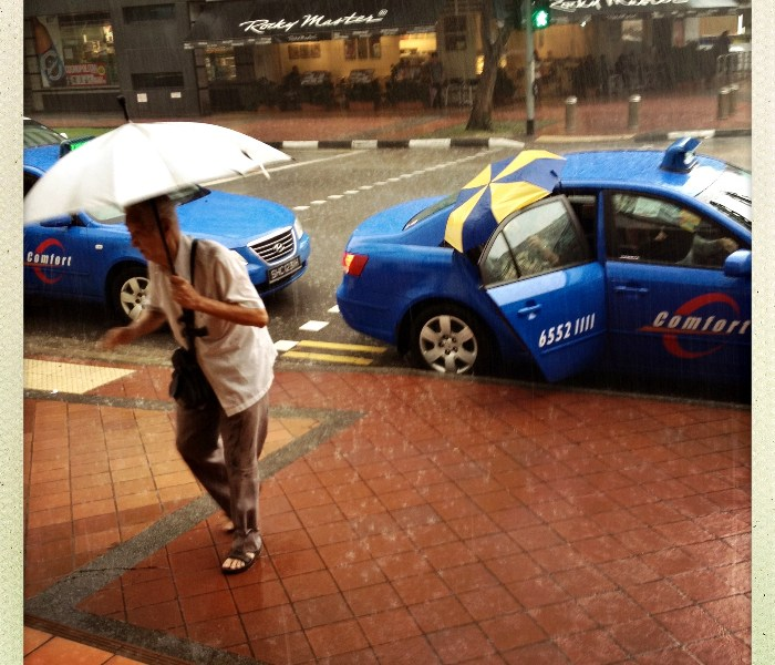 rain, taxi, Singapore, Jamie Chan, Photography