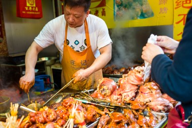 Qi Bao, Shanghai, Jamie Chan, No Foreign Lands, food street, leica, meat