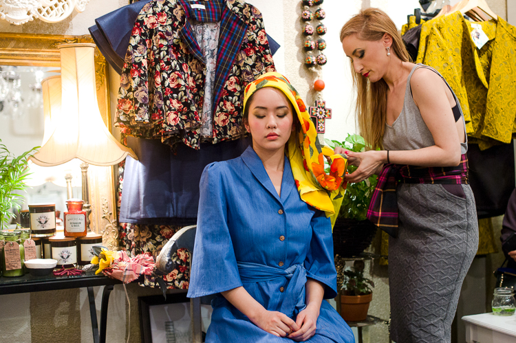 Jamie Chan, No Foreign Lands, Travel, Fashion, Blogger, Leica, Melbourne, Mickey in the Van, Estelle, dressing up, blue dress