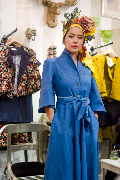 Jamie Chan, No Foreign Lands, Travel, Fashion, Blogger, Leica, Melbourne, Mickey in the Van, Estelle, Model, blue dress