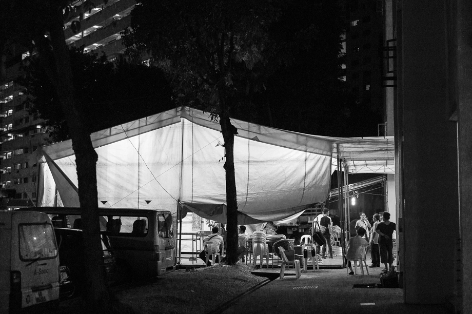 Chinese Funeral, Singapore, Traditional, Leica, yellow tent, death
