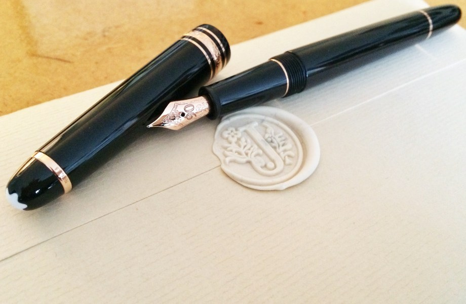 Penpal, Jamie Chan, Montblanc, Meisterstück, 90th anniversary, classique, wax seal, G. Lalo, ivory, rose gold