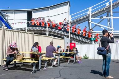 Instagram Worldwide meet, Melbourne, Luna Park, Roller Coaster, benches