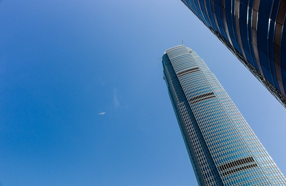 Street Photography, Hong Kong, Leica M, Travel, Jamie Chan, No Foreign Lands, Blue Sky, Tall Buildings