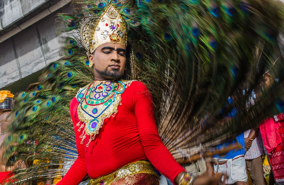 peacock dance, Thaipusam, 2015, Malaysia, Leica, Summilux, Jamie Chan, No Foreign Lands, Travel